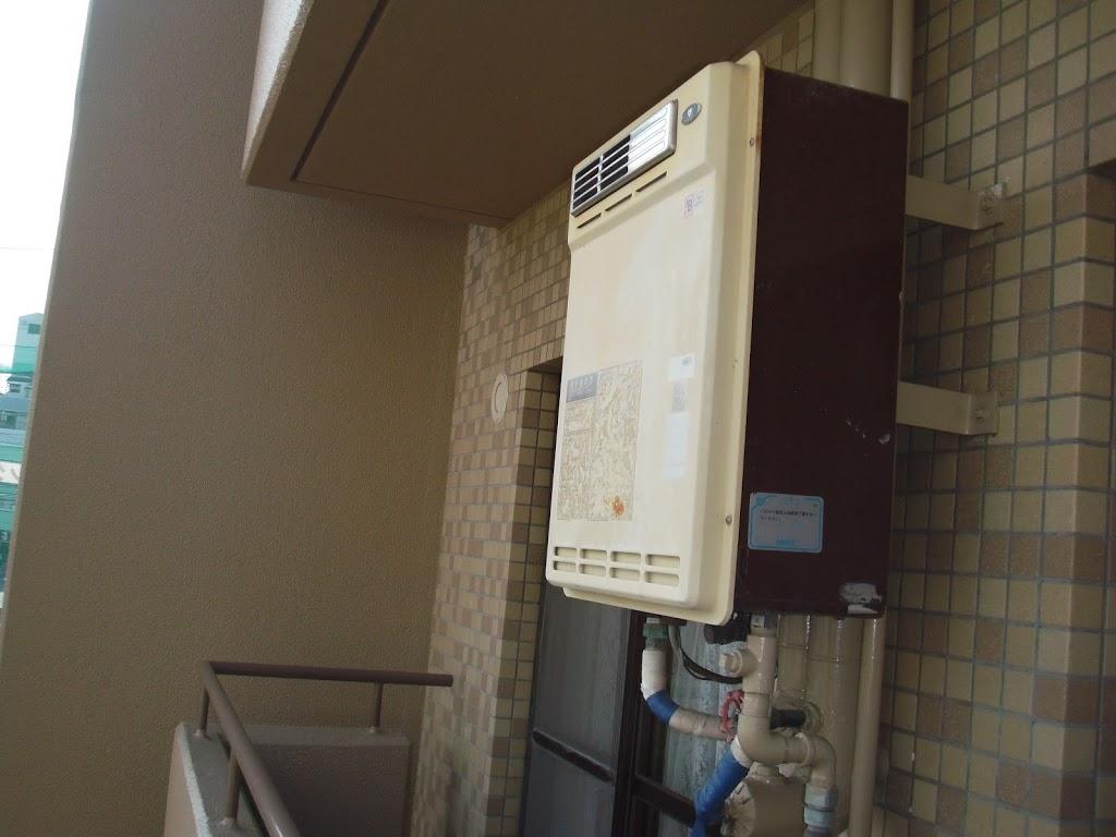 神戸市須磨区 マンション ノーリツ ガス給湯器取替(交換)工事