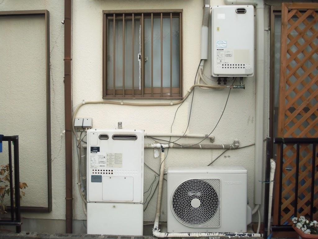 兵庫県尼崎市 戸建て リンナイ ガス風呂給湯器取替工事