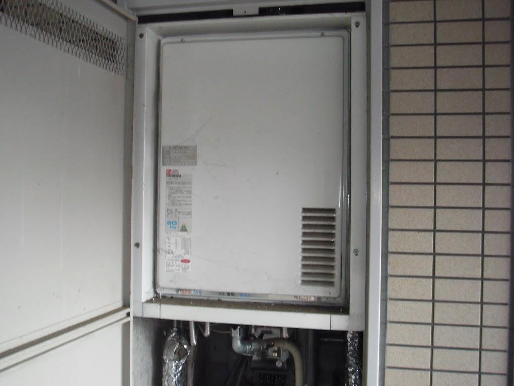 神戸市東灘区 マンション ノーリツ ガス給湯器取替(交換)
