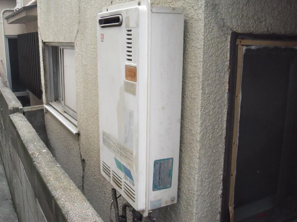 兵庫県尼崎市 賃貸戸建て住宅 パーパス ガス給湯器取替(交換)工事