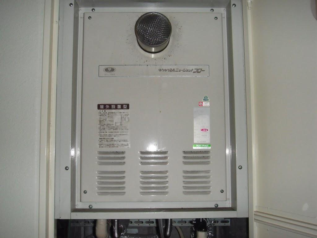 兵庫県西宮市 賃貸マンション ノーリツ ジェットフロー ガス給湯器 取替 工事