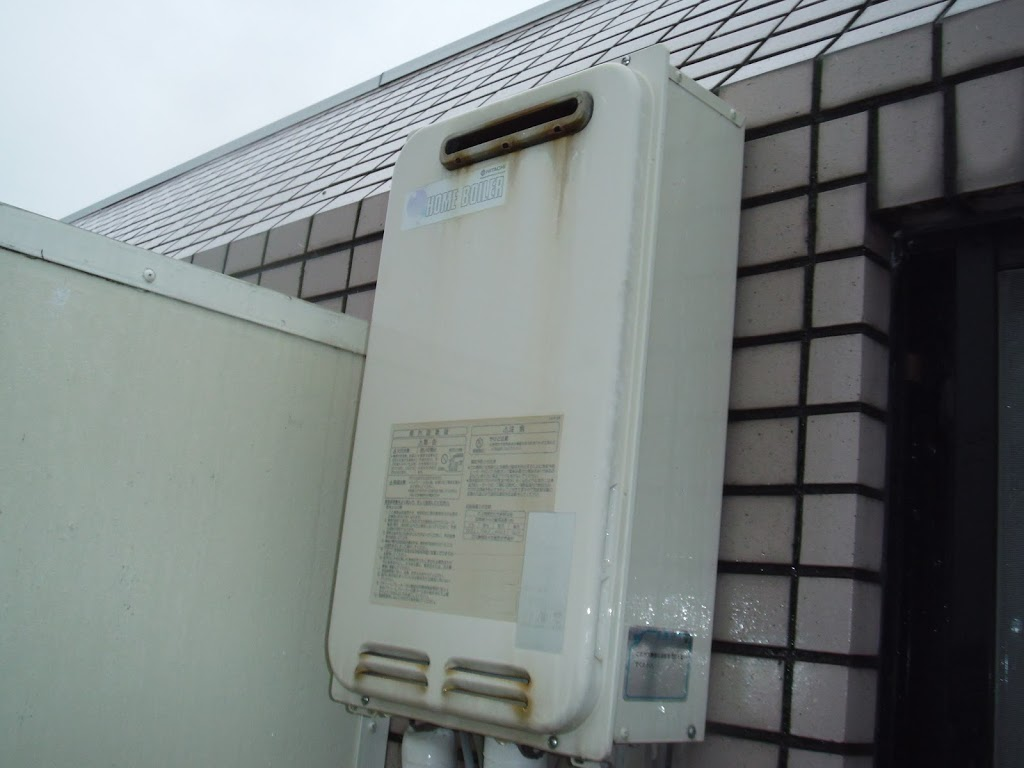 神戸市兵庫区 賃貸マンション ノーリツ ガス給湯器 取替 工事(交換)