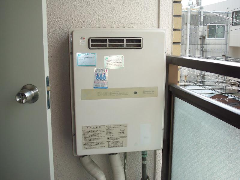 神戸市東灘区 賃貸マンション ノーリツ ガス給湯器 取替 工事(交換)