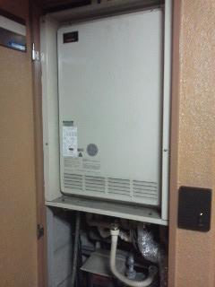 大阪府大阪市 マンション 暖房付き後方排気型ガス風呂給湯器取替(交換)工事