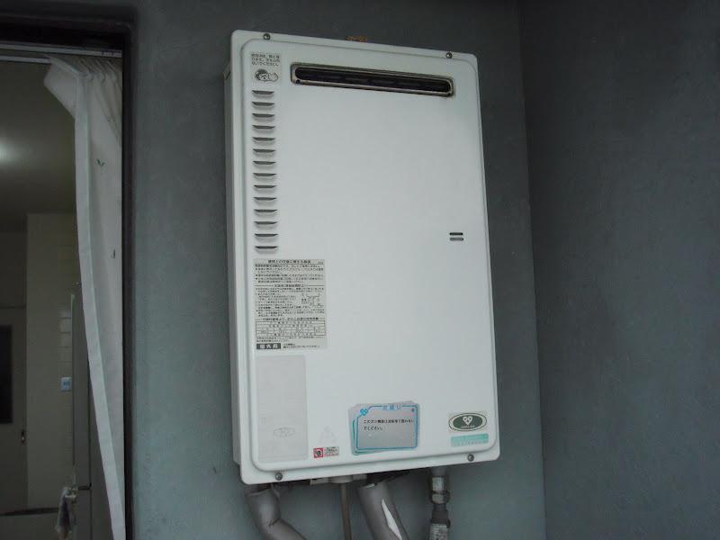 兵庫県尼崎市 マンション ノーリツ ベランダ設置 ガス給湯器 取替 取替(交換)