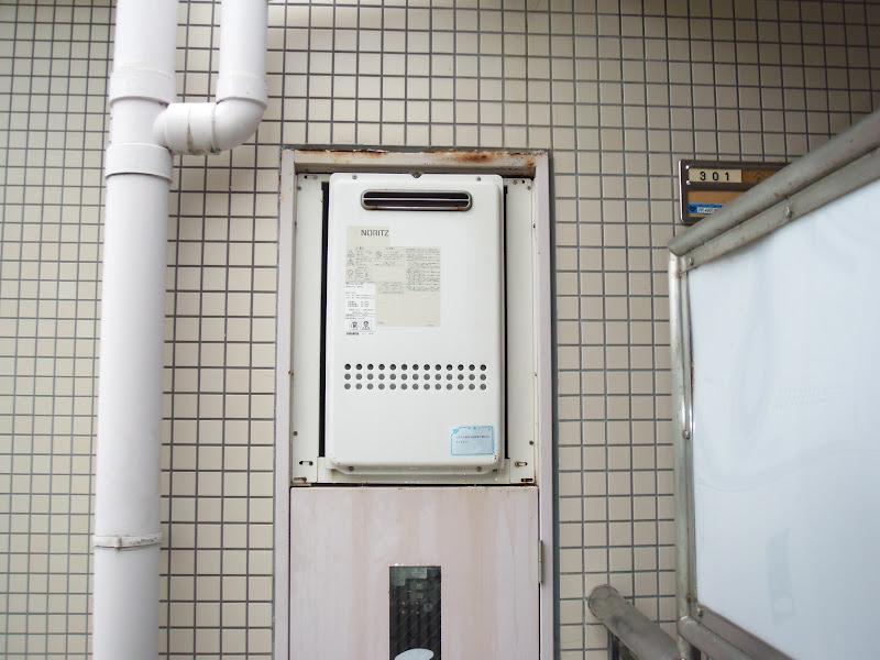 西宮市 マンション ノーリツ ガス給湯器 取替 工事 (交換)