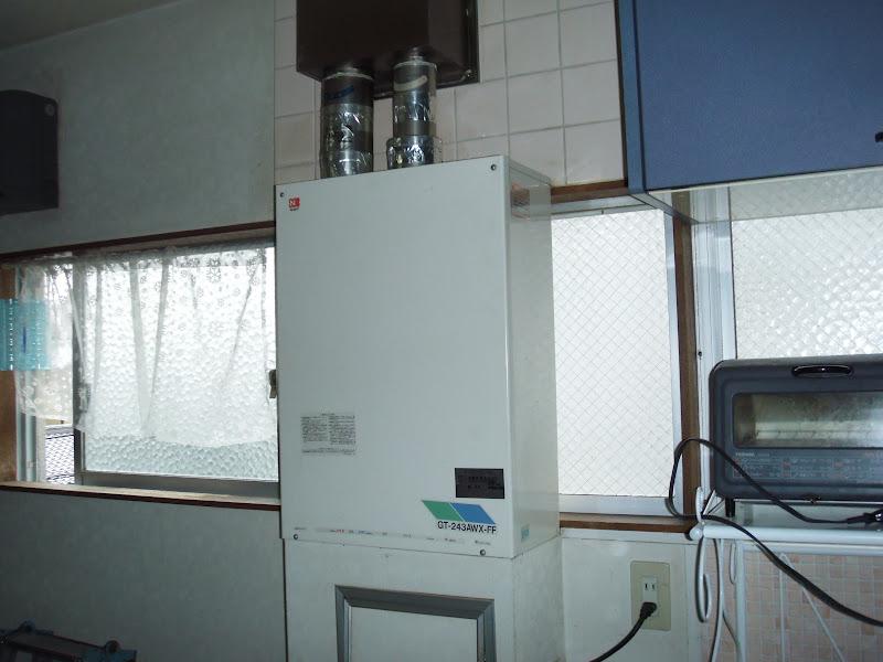 西宮市 戸建て ノーリツ 屋内設置 強制給排気 ガス風呂給湯器 取替 工事 (交換)