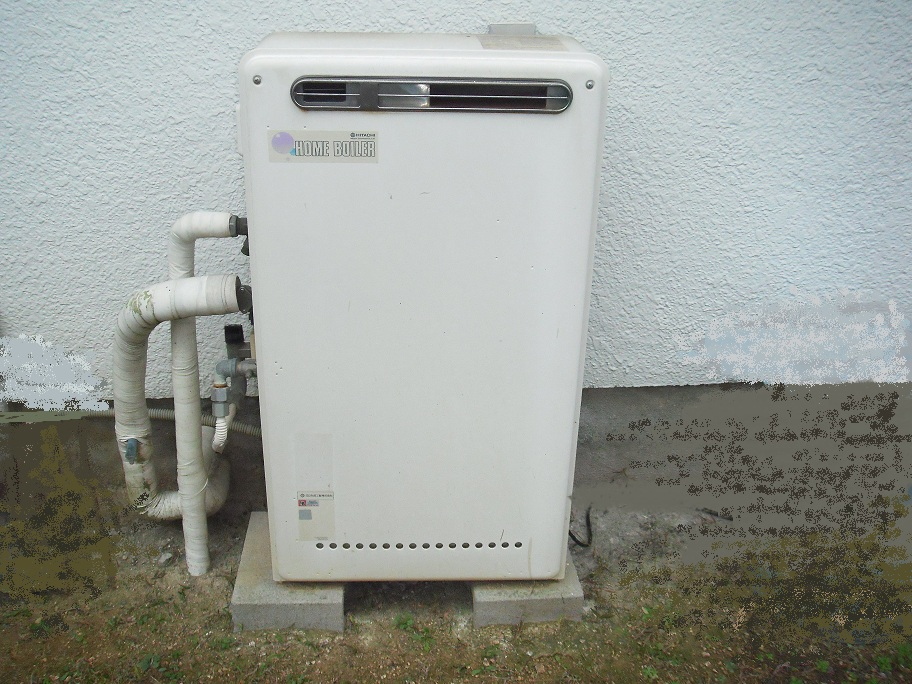 神戸市東灘区 戸建て ノーリツ エコジョーズ2つ穴ガス風呂給湯器取替交換工事