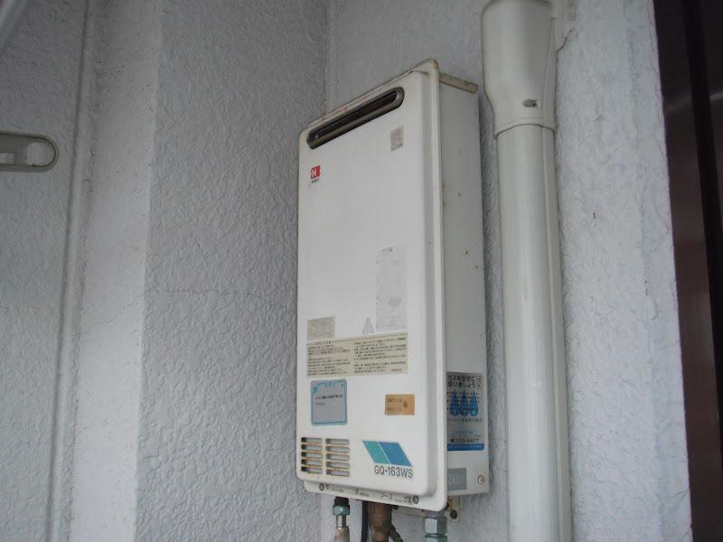 尼崎市 マンション ベランダ設置型 ガス給湯器 ノーリツ 取替 工事