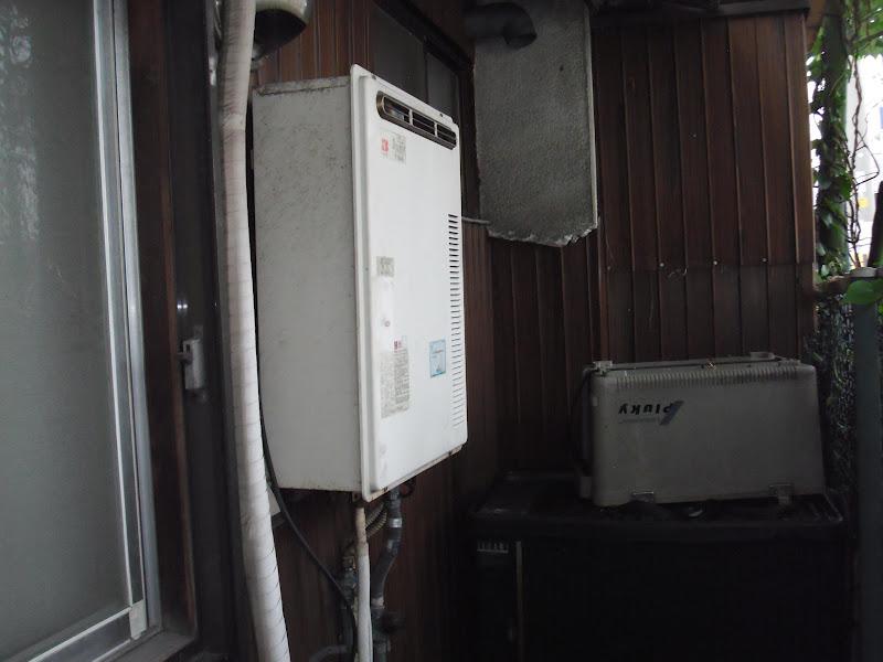 尼崎市 戸建て 屋外設置型 ノーリツ ガス給湯器 取替 工事 (交換)