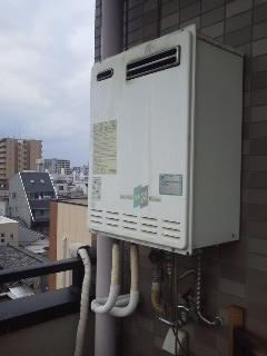 大阪市 マンション ノーリツ 屋外設置 ガス追い炊き付き給湯器 取替 工事 (交換)