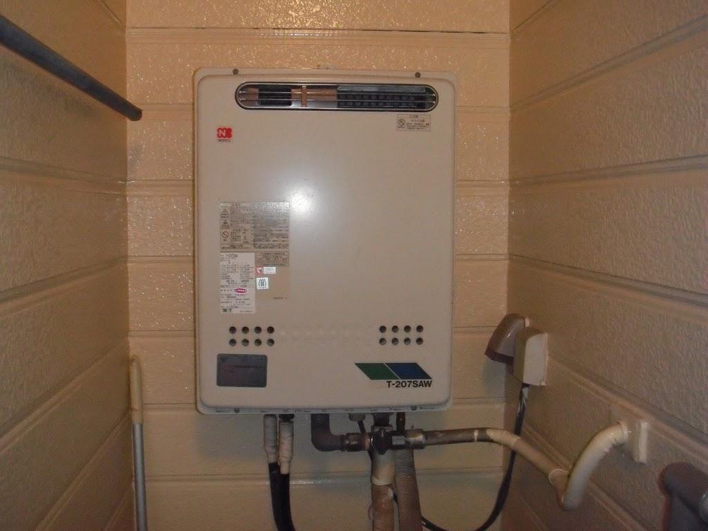 西宮市 戸建て ノーリツ製ガス給湯器 エコジョーズ取替(交換)