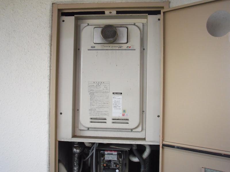 尼崎市 賃貸マンション ノーリツ ガス給湯器 高温差し湯タイプ 取替交換工事
