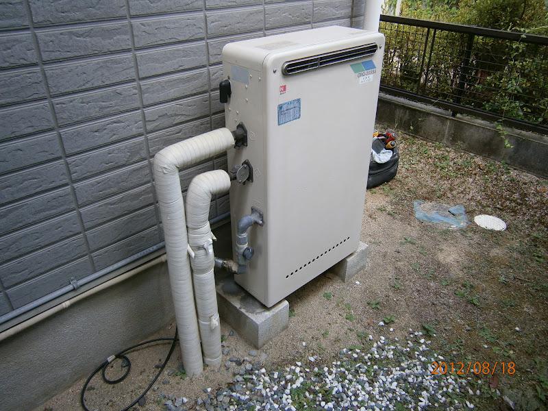 神戸市北区 戸建て ノーリツ製ガス風呂給湯器セミオート 取替 交換 工事