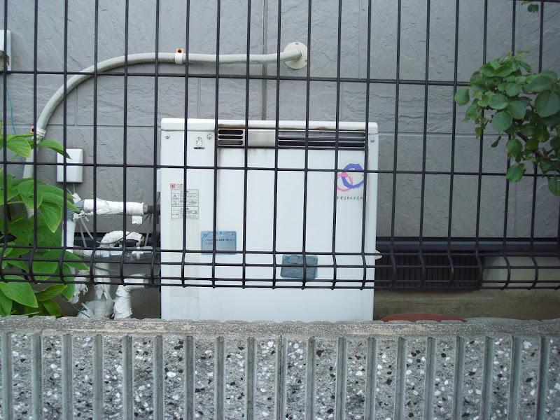 兵庫県伊丹市 戸建て パーパス ガス風呂給湯器 フルオートタイプ 取替交換工事