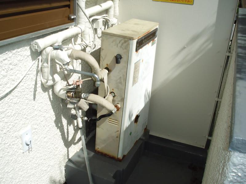 神戸市灘区 分譲マンション ノーリツ ガス風呂給湯器 隣接タイプ 取替交換工事