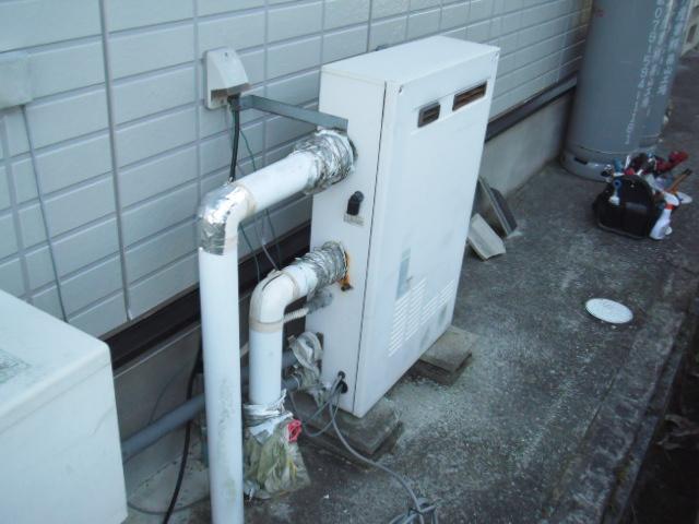 兵庫県 篠山市 戸建て住宅 ノーリツ ガス風呂給湯器 取替交換工事