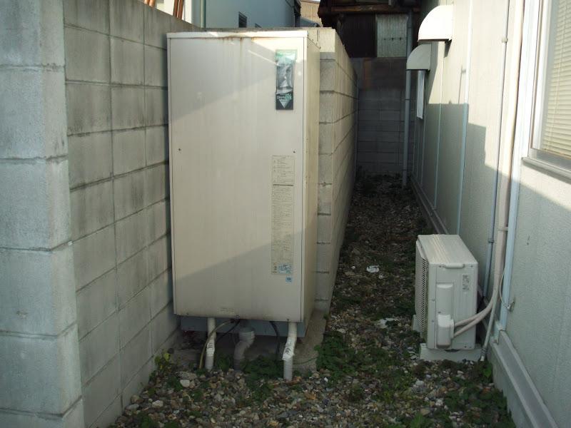 兵庫県尼崎市 会社社員待機場所 ガス給湯器 新設工事