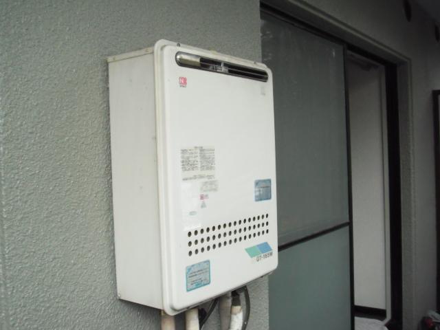 兵庫県 尼崎市 ノーリツ ガス風呂給湯器 屋外壁掛け 取替交換工事