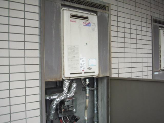 兵庫県尼崎市 賃貸マンション リンナイガス給湯器 取替交換工事