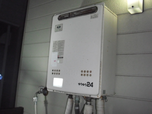 兵庫県神戸市東灘区 ノーリツ24号ガス風呂給湯器フルオート 取替交換工事