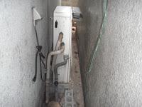 兵庫県伊丹市 ノーリツ ガス風呂給湯器 隣接設置タイプ 取替交換工事