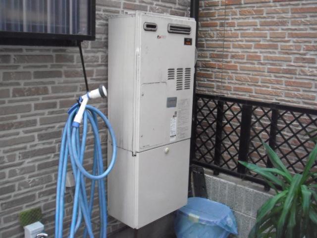 兵庫県尼崎市 戸建住宅 リンナイ エコジョーズ ガス追い炊き付給湯暖房機 取替交換工事