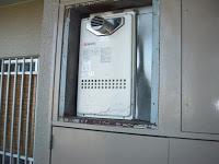 兵庫県神戸市垂水区 ノーリツガス給湯器 扉内設置形 前方排気タイプ 取付交換工事