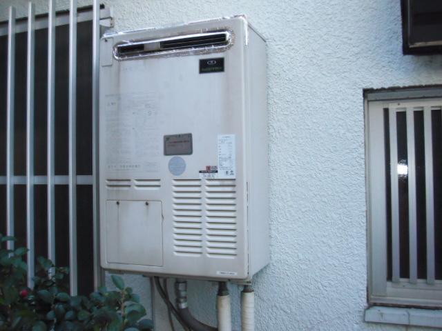兵庫県神戸市東灘区 戸建て住宅 ノーリツガス給湯器 取替交換工事