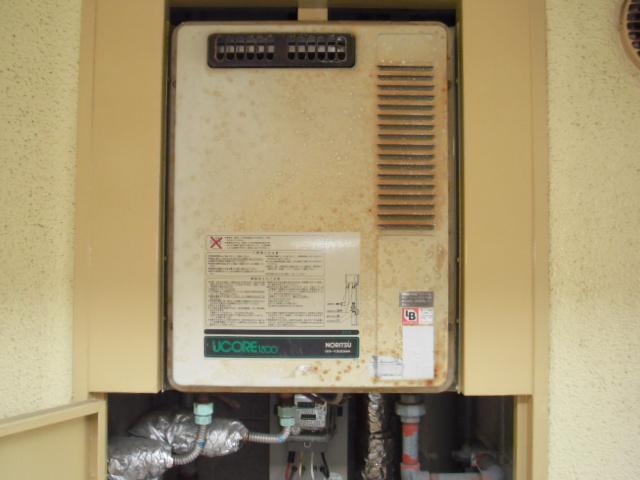 兵庫県神戸市東灘区 マンション ノーリツガス給湯器 取替交換工事