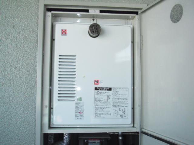 兵庫県神戸市東灘区 マンション リンナイ ガス給湯器 高温差し湯タイプ 前方排気形 取替交換工事