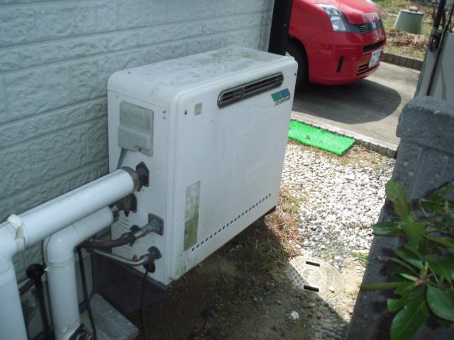 兵庫県明石市 戸建て住宅 ノーリツ ガス風呂給湯器 据え置き型 フルオートタイプ 取替交換工事