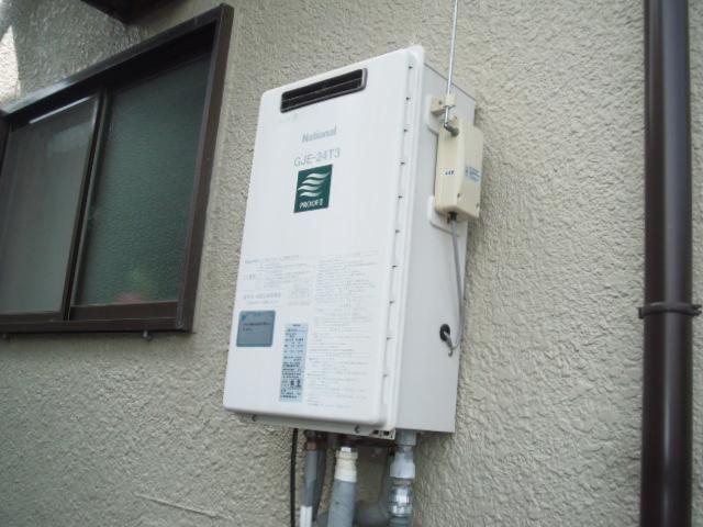 兵庫県 川西市 戸建て住宅 リンナイ ガス追い炊き付き給湯器 セミオート 取替交換工事