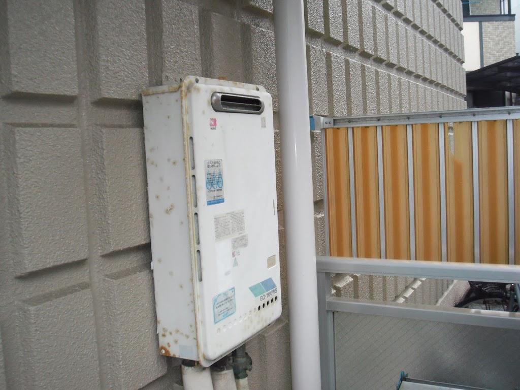 兵庫県 神戸市 北区 マンション ノーリツ ガス給湯器 16号 標準設置型 取替交換工事