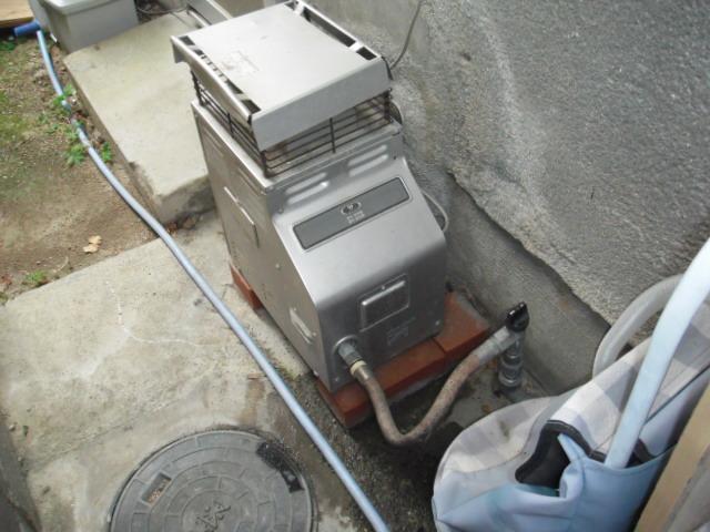 兵庫県 尼崎市 戸建て住宅 ノーリツ ガス風呂釜 取替交換工事
