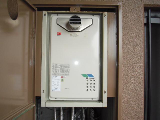 兵庫県 神戸市 東灘区 マンション ノーリツ 20号 ガス給湯器 高温水供給式 クイックオート 取替交換工事