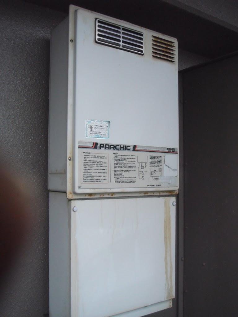 兵庫県 芦屋市 マンション ノーリツ ガス給湯器 屋外設置型 取替交換工事