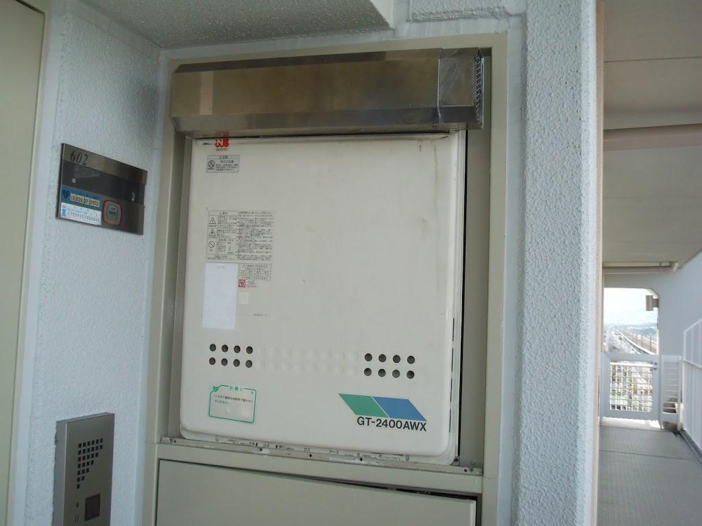 兵庫県 尼崎市 マンション ノーリツ ガス追炊き付き給湯器 メーターボックス設置 取替交換工事 施工
