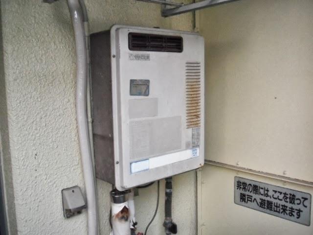 兵庫県 尼崎市 マンション ノーリツ ガス給湯器 16号 屋外壁掛 取替交換工事 施工