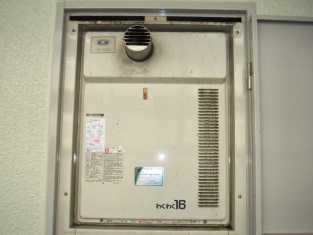 兵庫県 尼崎市 マンション ノーリツ ガスふろ給湯器 扉内設置 前方排気 取替交換工事 施工