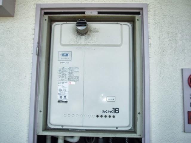 大阪府 堺市 マンション ノーリツ ガス給湯器 PS 扉内設置 前方排気 取替交換工事 施工