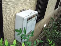 兵庫県 尼崎市 戸建て住宅 ノーリツ 24号 セミオート ガス追炊き付き給湯器 エコジョーズ 屋外壁掛型 取替交換工事 施工