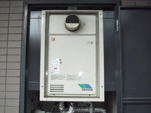兵庫県 尼崎市 マンション ノーリツ 24号 ガス給湯器 PS 扉内設置 取替交換工事 施工