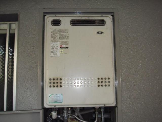 兵庫県 伊丹市 マンション ガスふろ給湯器 セミオートタイプ PS メーターボックス 標準設置型 取替交換工事 施工