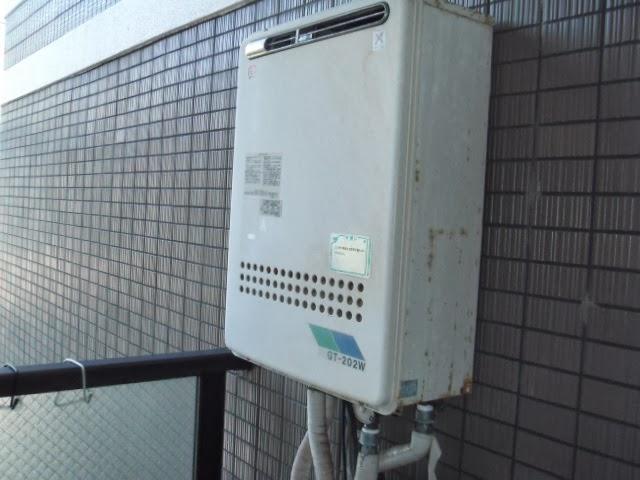 神戸市 須磨区 マンション ガスふろ給湯器 セミオート 屋外設置型 取替交換工事 施工