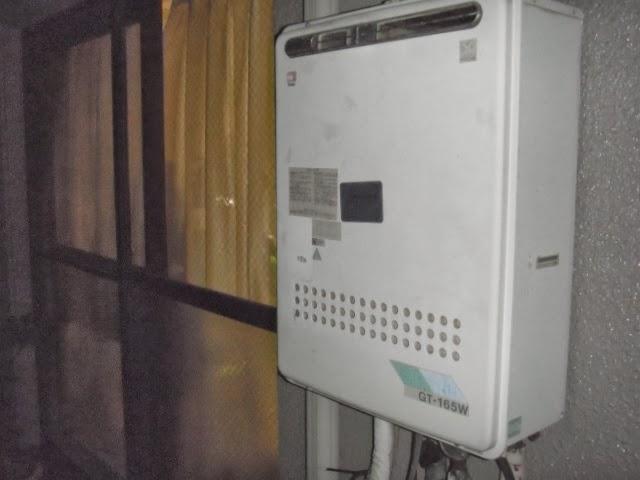 兵庫県 尼崎市 マンション ノーリツ ガス追焚き付き給湯器 16号 セミオート 屋外設置型 取替交換工事 施工