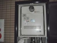 兵庫県 尼崎市 マンション ノーリツ ガスふろ給湯器 セミオート PS メーターボックス内設置型 取替交換工事 施工