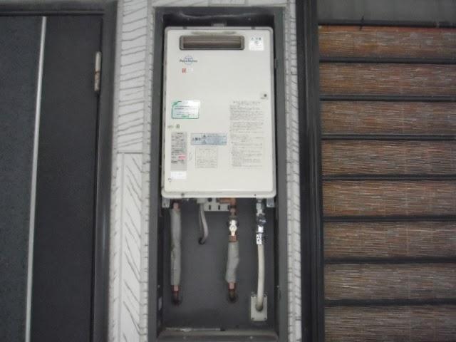 兵庫県 西宮市 ハイツ ノーリツ ガス給湯器 16号 屋外設置型 取替交換工事 施工