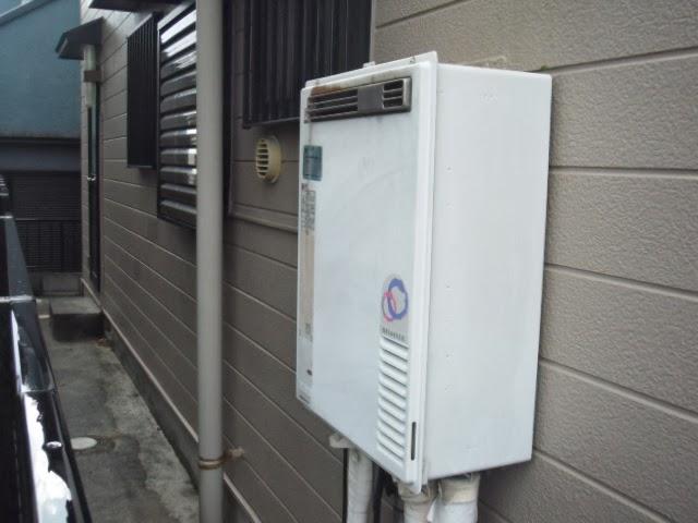 兵庫県 神戸市 西区 リンナイ 24号 ガス風呂給湯器 屋外壁掛型 セミオート 取替交換工事 施工