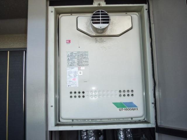 奈良県 北葛城市 マンション ノーリツ ガスふろ給湯器 追焚き付き フルオートタイプ PS扉内設置 前方排気型 取替交換工事施工